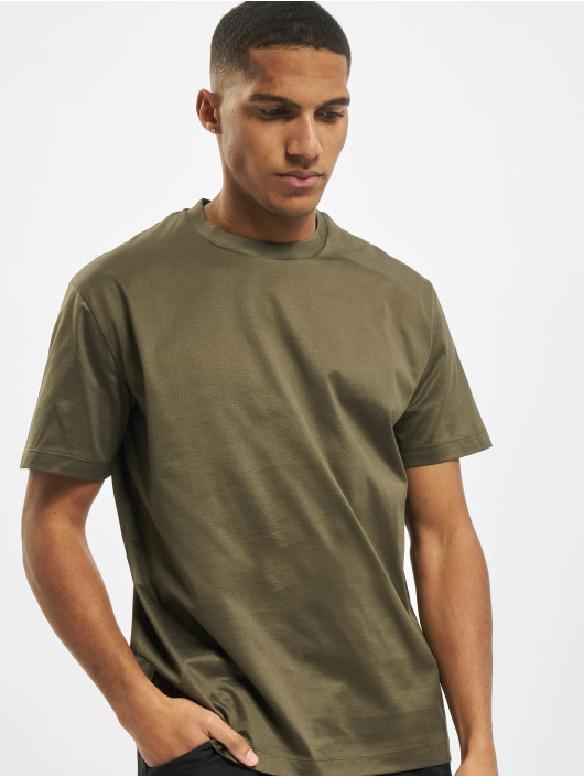 Les Hommes T-shirt Broken verde