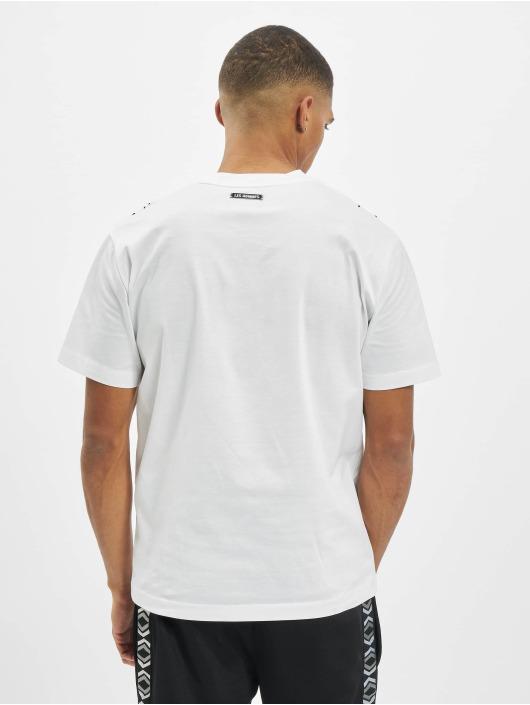 Les Hommes T-Shirt Dart weiß