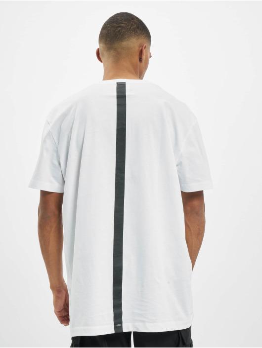 Les Hommes T-Shirt Graphic City weiß
