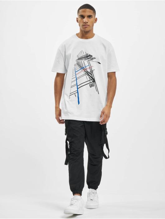Les Hommes T-shirts Graphic City hvid
