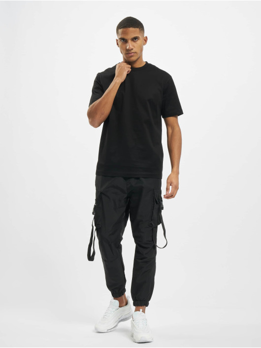 Les Hommes T-Shirty Broken czarny