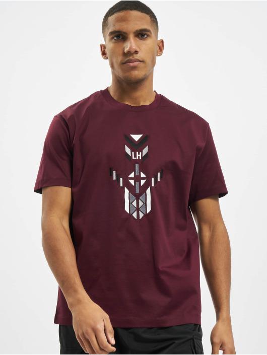 Les Hommes T-Shirty LH czerwony