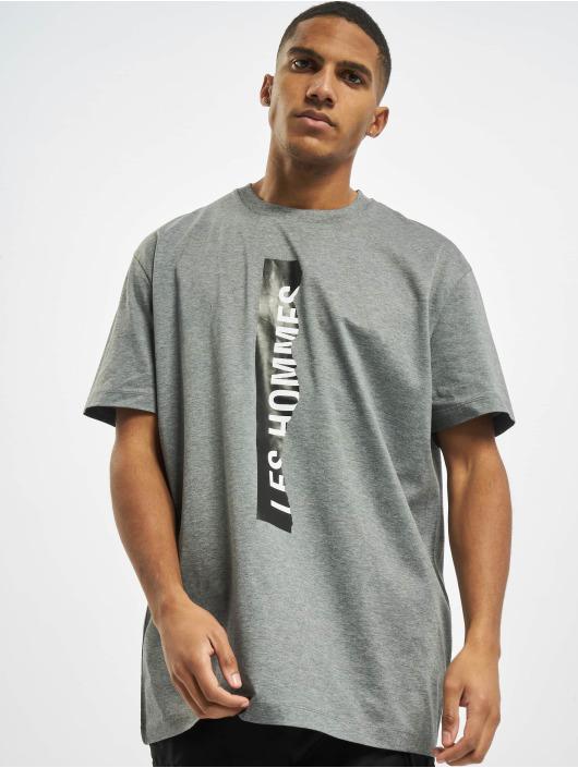 Les Hommes T-Shirty Logo szary