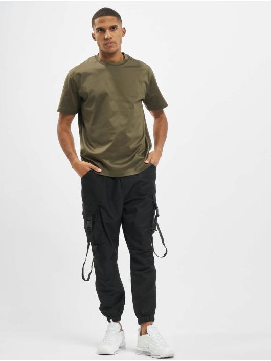 Les Hommes T-Shirty Broken zielony