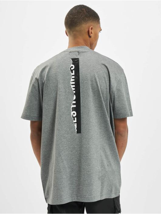 Les Hommes Tričká Logo šedá