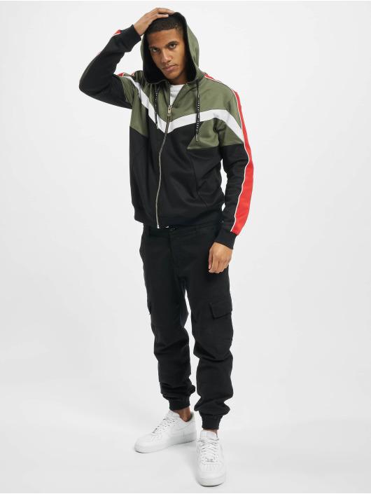 Les Hommes Zip Hoodie Contrast черный