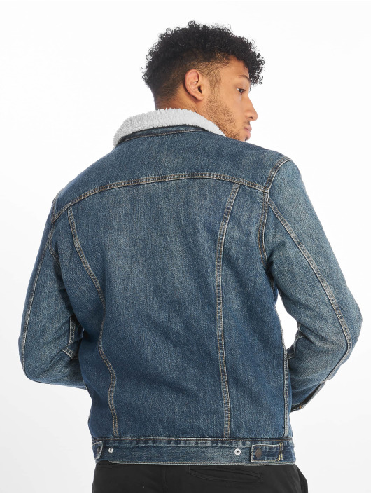 Levi's® Демисезонная куртка Type 3 Sherpa Trucker Denim синий