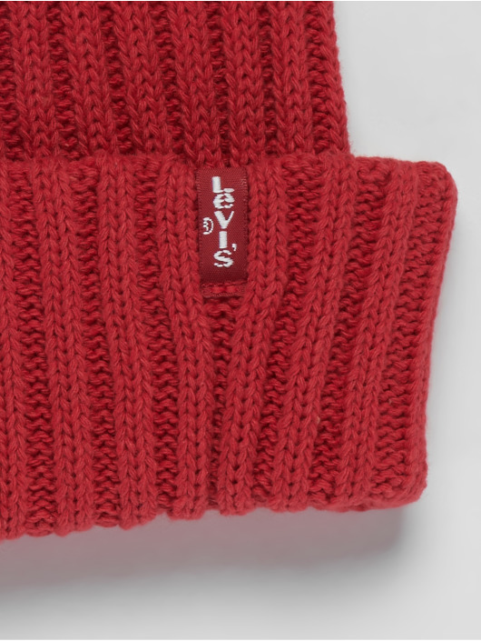 Levi's® Beanie Ribbed red