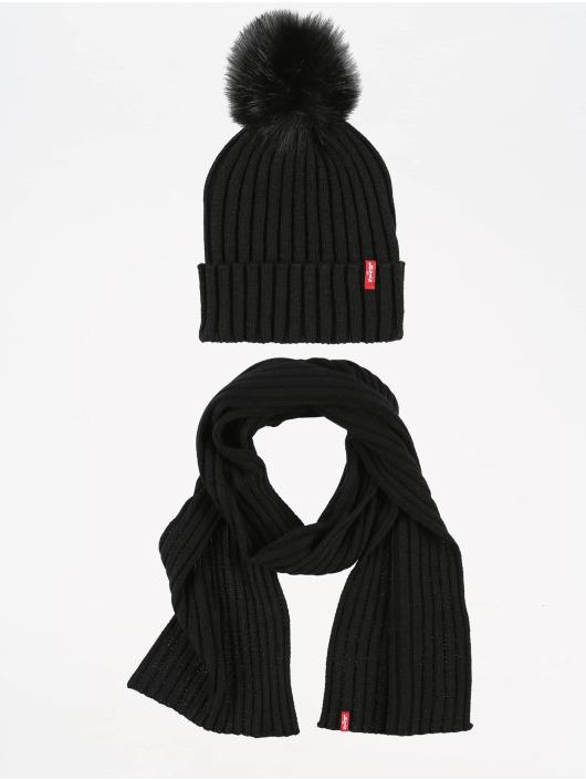Levi's® Bonnet hiver Fur Pom noir