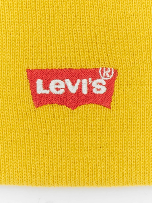 Levi's® Czapki Red Batwing Embroidered Slouchy zólty