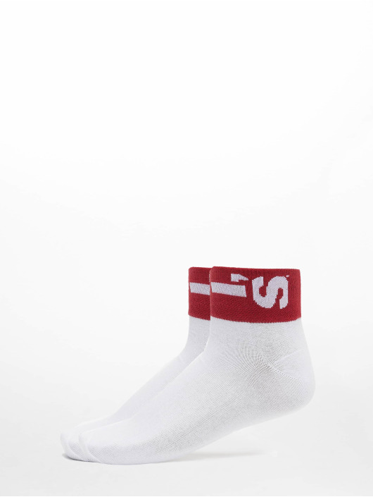 Levis® Dobotex Chaussettes 168SF Mid Cut Lazy Tab 2 Pack blanc
