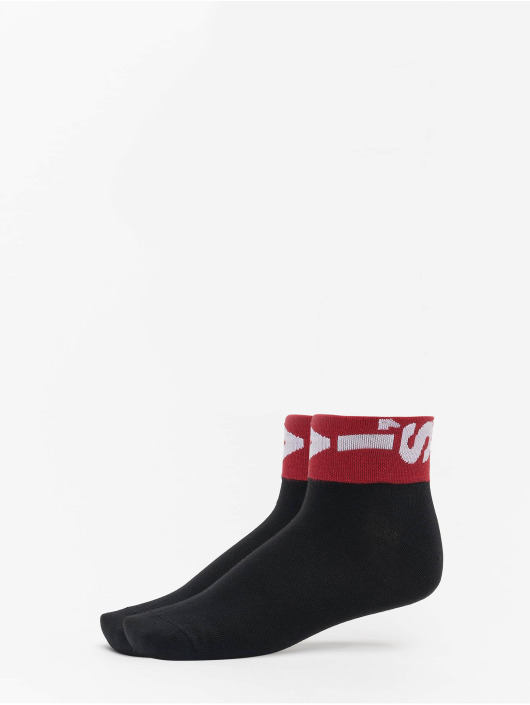 Levis® Dobotex Chaussettes 168SF Mid Cut Lazy Tab 2 Pack noir