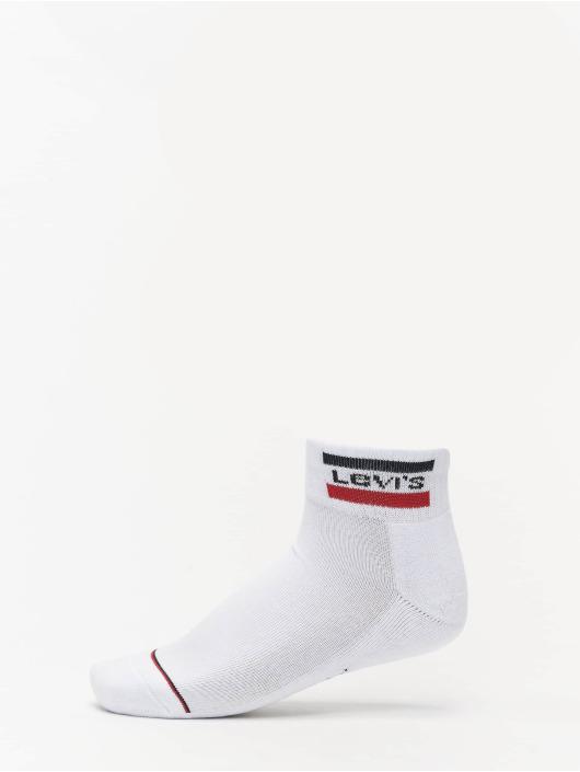 Levis® Dobotex Skarpetki 144NDL Mid Cut Sportswear Logo 2P bialy