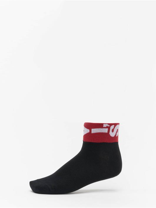 Levis® Dobotex Socken 168SF Mid Cut Lazy Tab 2 Pack schwarz