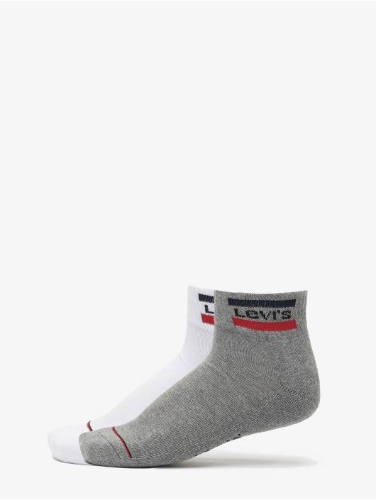 Levis® Dobotex Socken 144NDL Mid Cut Sportswear Logo 2P weiß