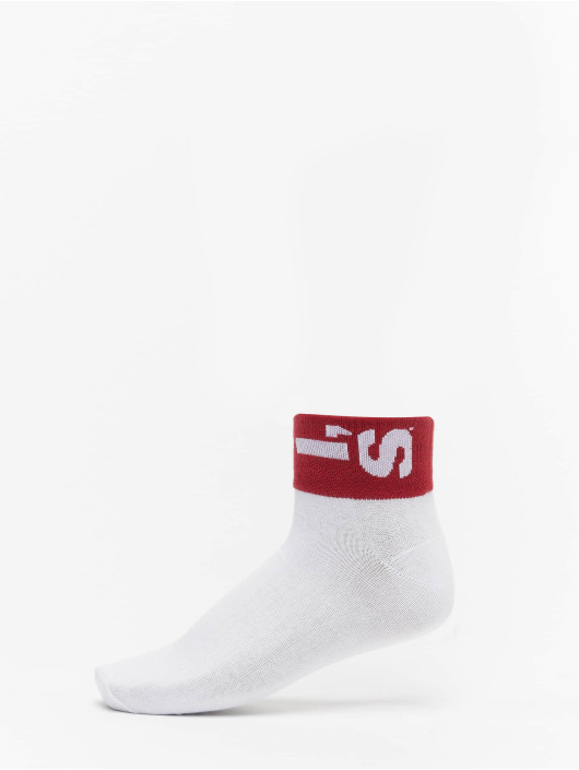 Levis® Dobotex Socks 168SF Mid Cut Lazy Tab 2 Pack white