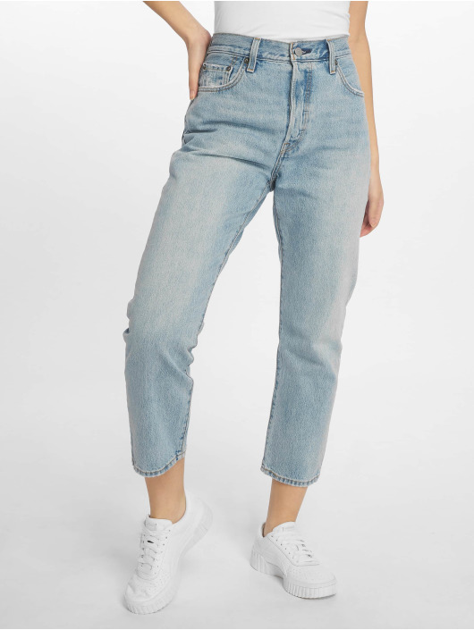 Levi's® Dżinsy straight fit 501 Crop Lovefool indygo
