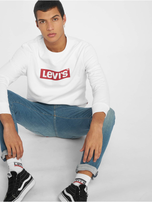 Levi's® Gensre Graphic Crew Flock hvit