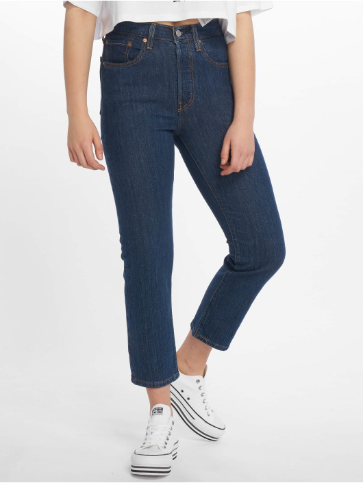Levi's® High Waisted Jeans 501 Crop Shot indigo