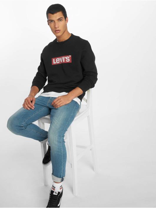 Levi's® Pullover Graphic Crew Logo Mineral schwarz