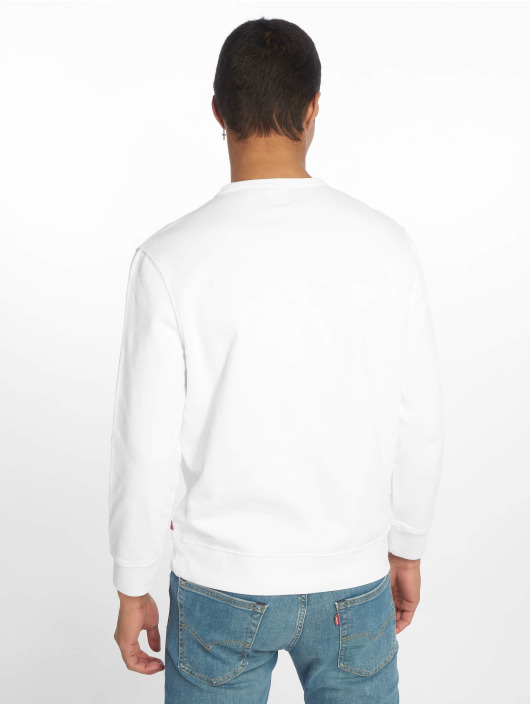 Levi's® Pullover Graphic Crew Flock weiß