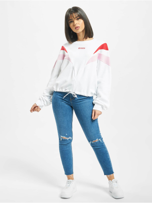Levi's® Pullover Florence Crew Baby Tab weiß