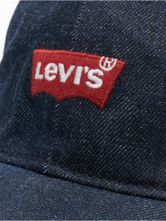 Levi's® Snapback Cap Mid Batwing Ball Denim blau