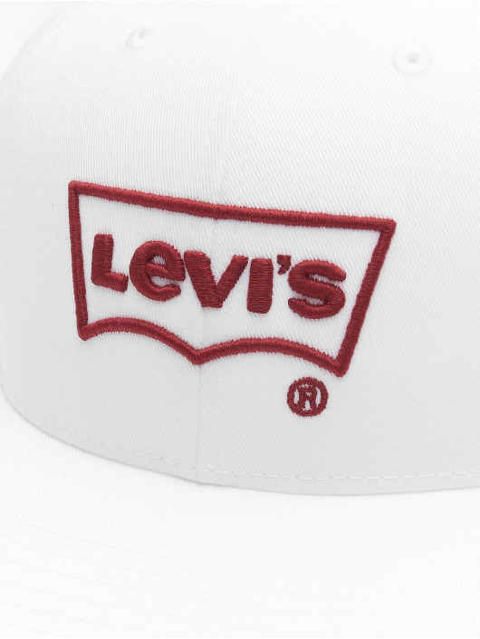 Levi's® Snapback Cap Big Batwing Non Flex Fit Puff Embroid weiß