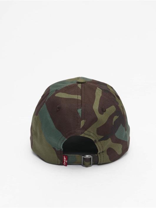 Levi's® Snapback Caps Mid Batwing Ball Print khaki