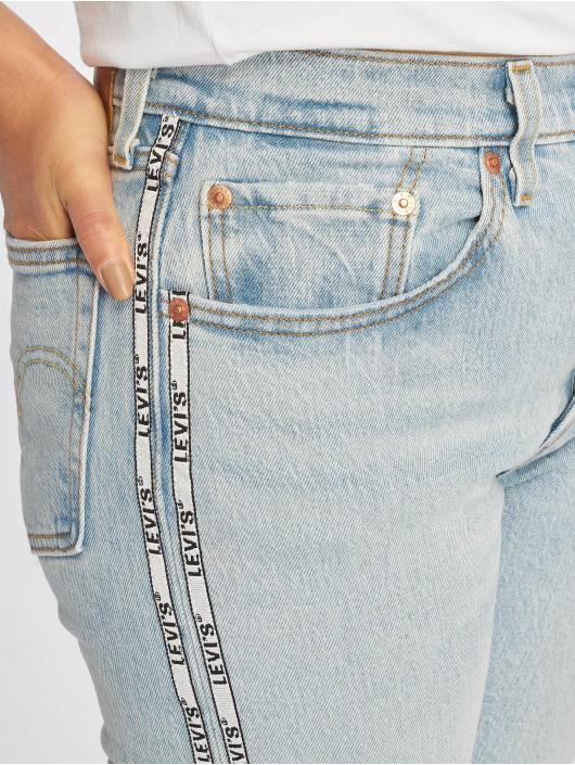 Levi's® Straight fit jeans 501® Crop blauw