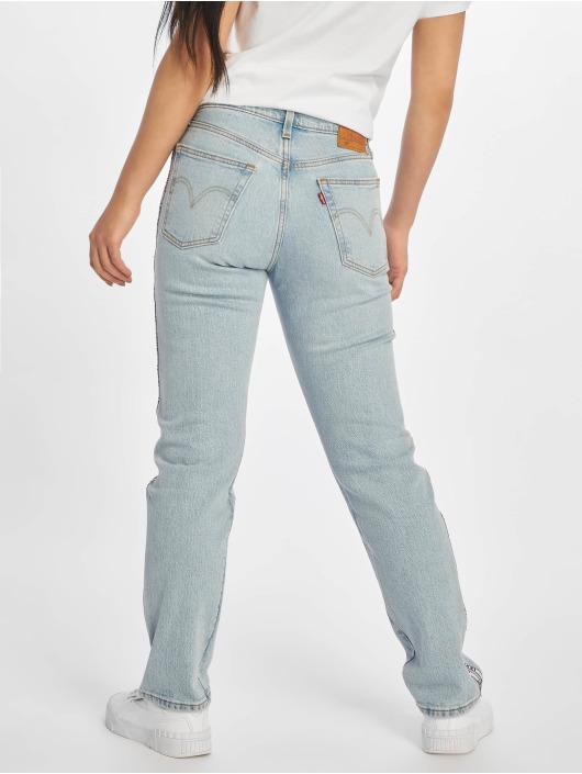 Levi's® Straight Fit Jeans 501® Crop modrý