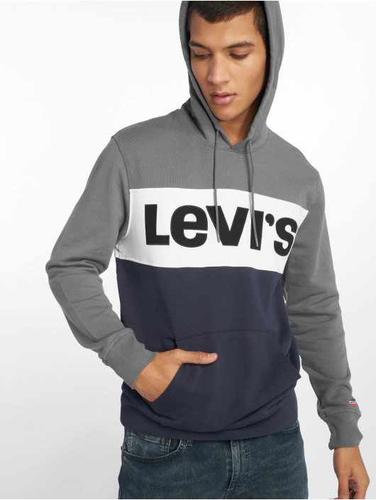 Levi's® Sudadera Colorblock Quiet Shade gris