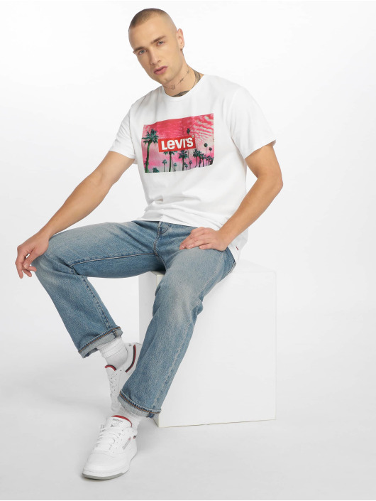 Levi's® T-shirt Graphic Set In Neck bianco