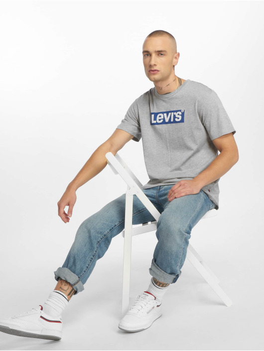 Levi's® T-shirt Graphic Set In Neck grå