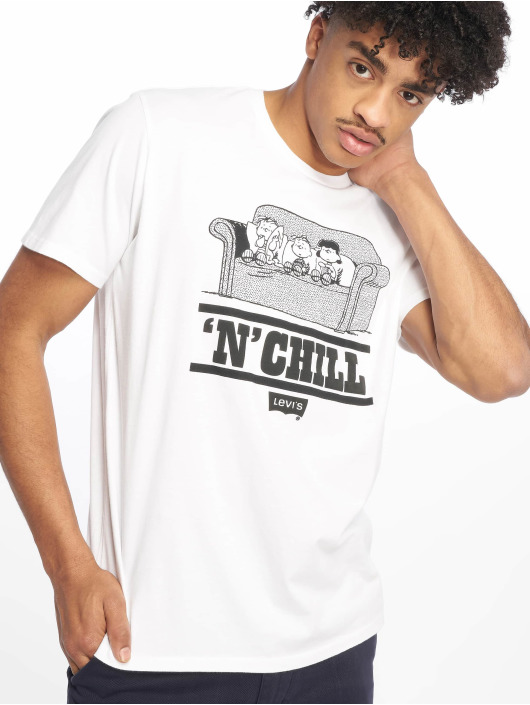 Levi's® T-Shirt Graphic Set In Neck Peanuts Chill weiß