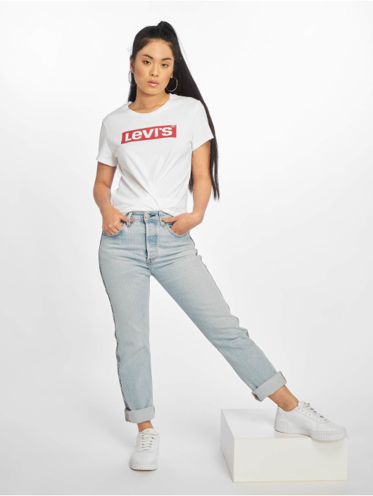 Levi's® t-shirt The Perfect New Red Box Tab wit
