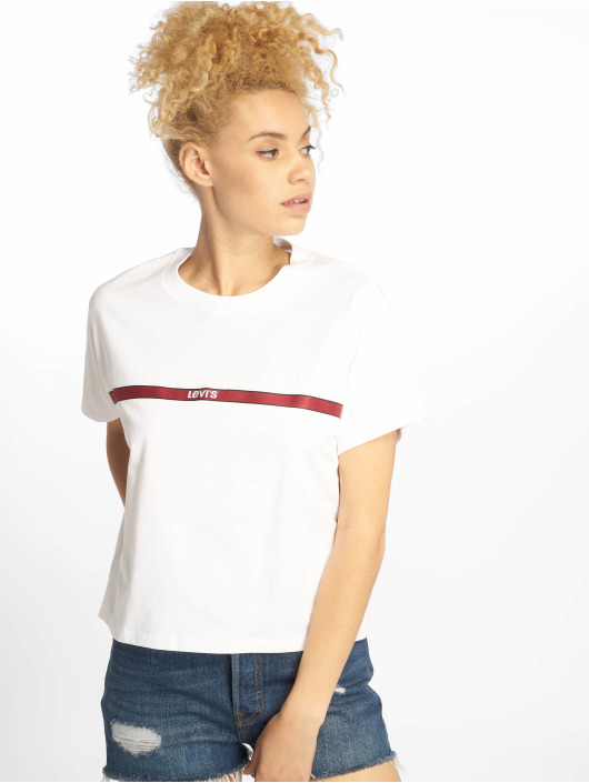 Levi's® T-Shirty Graphic Varsity Text Tape bialy