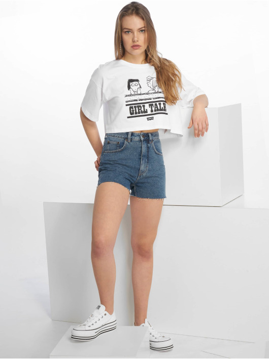 Levi's® T-Shirty Graphic Crop Slacker Tee Peanuts bialy