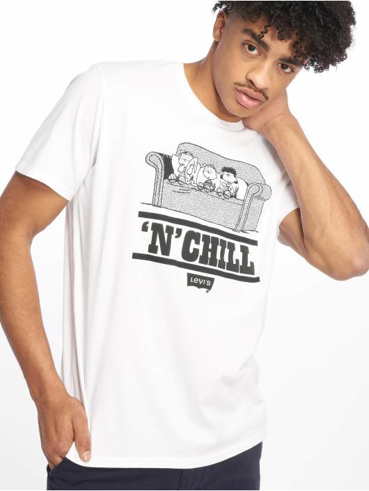 Levi's® T-skjorter Graphic Set In Neck Peanuts Chill hvit