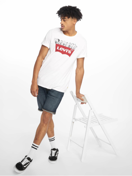 Levi's® T-skjorter Graphic Set In Neck Peanuts Gang hvit