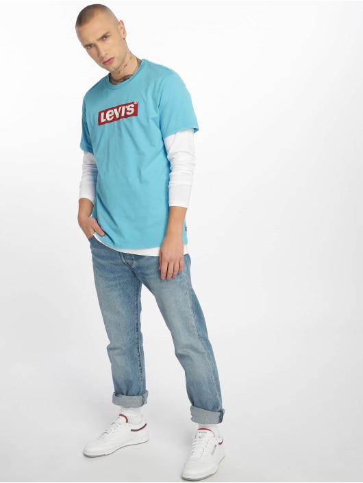 Levi's® Tričká Graphic Set In Neck modrá