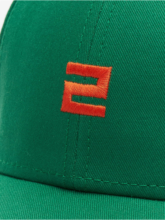 Lifted snapback cap Elin groen