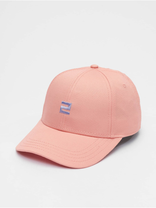 Lifted snapback cap Elin pink