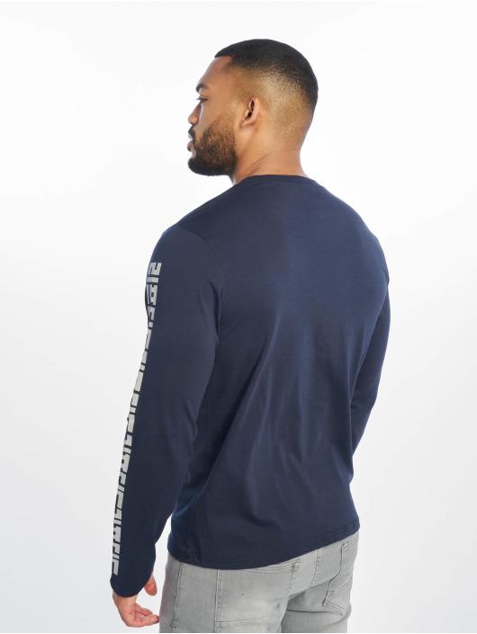 Lifted Tričká dlhý rukáv Yun modrá