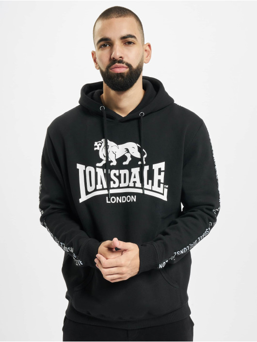 Lonsdale London Bluzy z kapturem Yapton czarny