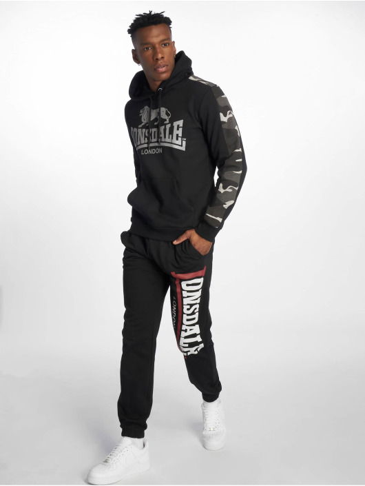 Lonsdale London Hoody Santley schwarz