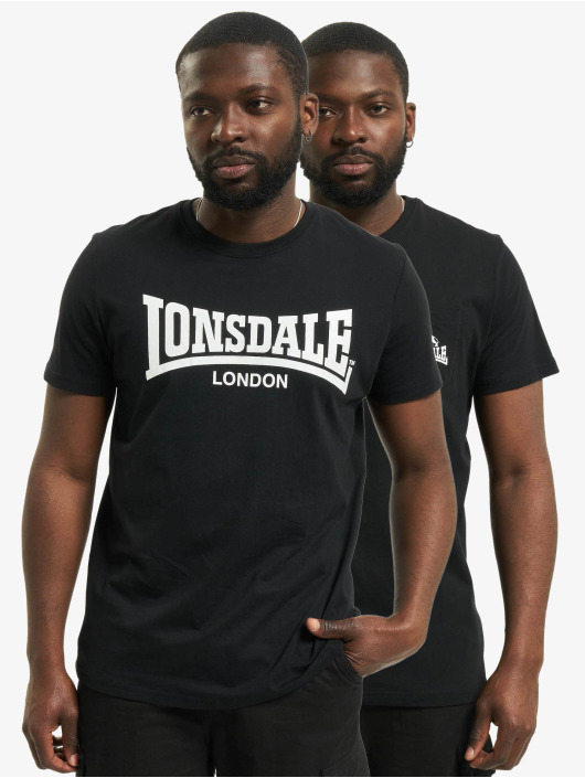 Lonsdale London T-paidat Sussex - Double Pack musta