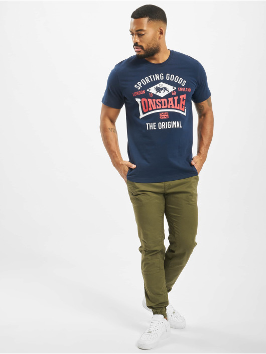 Lonsdale London T-Shirt Empingham Regular Fit blue