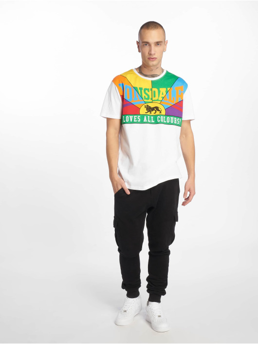 Lonsdale London T-Shirt Loves All Colours weiß