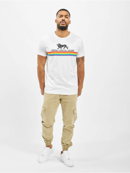 Lonsdale London T-Shirt Nelson weiß